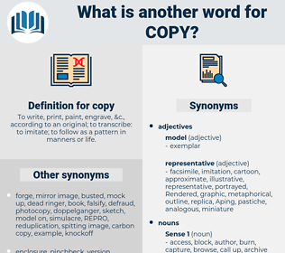 copy, synonym copy, another word for copy, words like copy, thesaurus copy