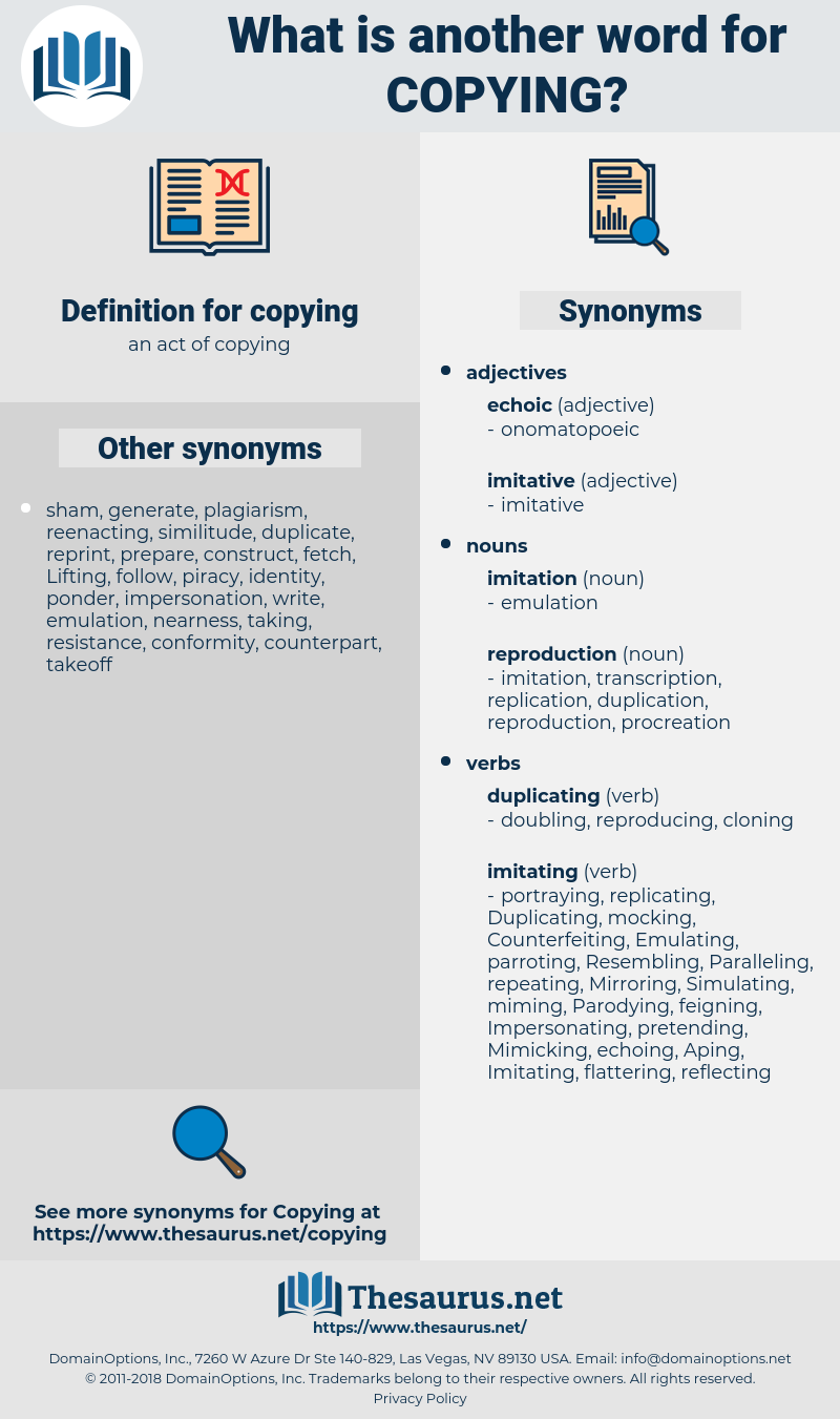 copying, synonym copying, another word for copying, words like copying, thesaurus copying