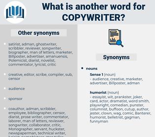 copywriter, synonym copywriter, another word for copywriter, words like copywriter, thesaurus copywriter