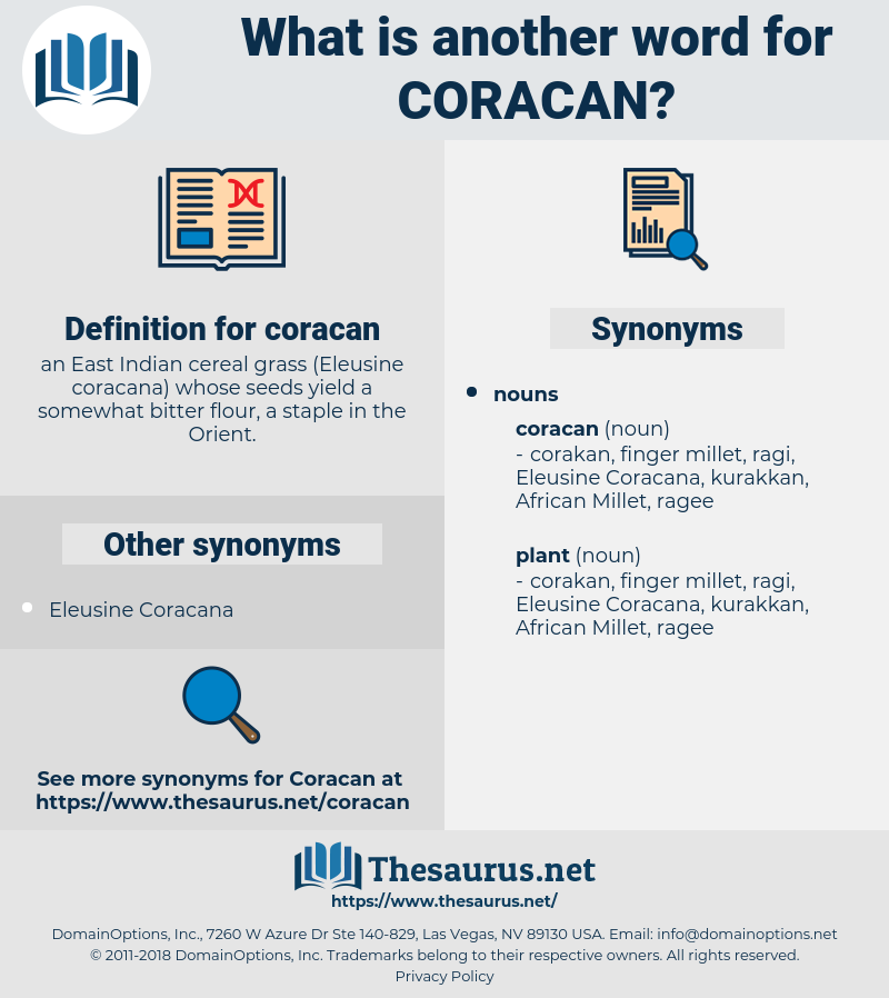 coracan, synonym coracan, another word for coracan, words like coracan, thesaurus coracan