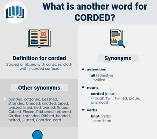 corded, synonym corded, another word for corded, words like corded, thesaurus corded