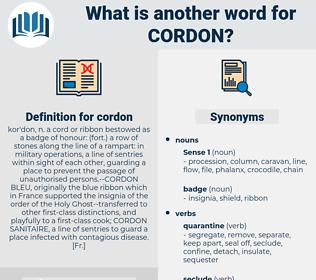 cordon, synonym cordon, another word for cordon, words like cordon, thesaurus cordon