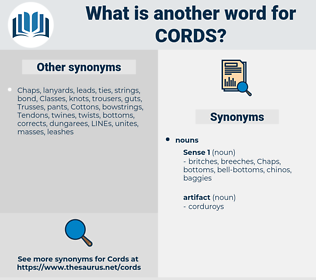 cords, synonym cords, another word for cords, words like cords, thesaurus cords