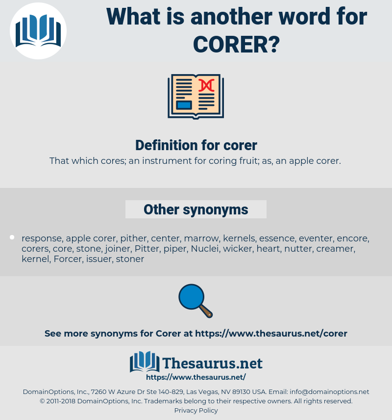 corer, synonym corer, another word for corer, words like corer, thesaurus corer
