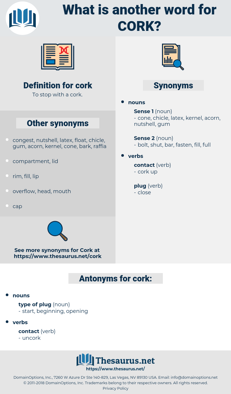 cork, synonym cork, another word for cork, words like cork, thesaurus cork