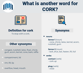 cork, synonym cork, another word for cork, words like cork, thesaurus cork
