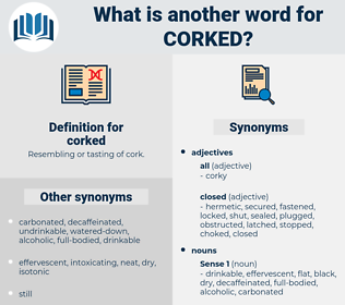 corked, synonym corked, another word for corked, words like corked, thesaurus corked