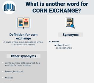 corn exchange, synonym corn exchange, another word for corn exchange, words like corn exchange, thesaurus corn exchange