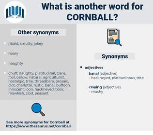 cornball, synonym cornball, another word for cornball, words like cornball, thesaurus cornball