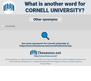 Cornell University, synonym Cornell University, another word for Cornell University, words like Cornell University, thesaurus Cornell University