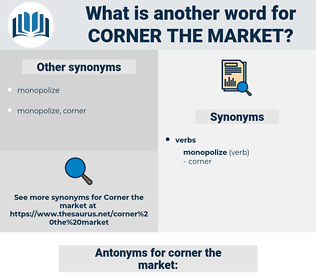 corner the market, synonym corner the market, another word for corner the market, words like corner the market, thesaurus corner the market