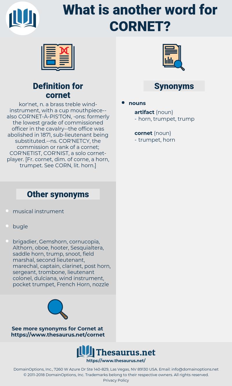 cornet, synonym cornet, another word for cornet, words like cornet, thesaurus cornet