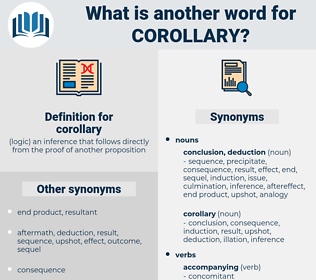 corollary, synonym corollary, another word for corollary, words like corollary, thesaurus corollary