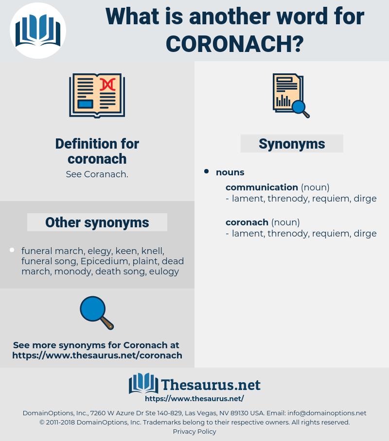 coronach, synonym coronach, another word for coronach, words like coronach, thesaurus coronach