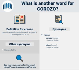 corozo, synonym corozo, another word for corozo, words like corozo, thesaurus corozo