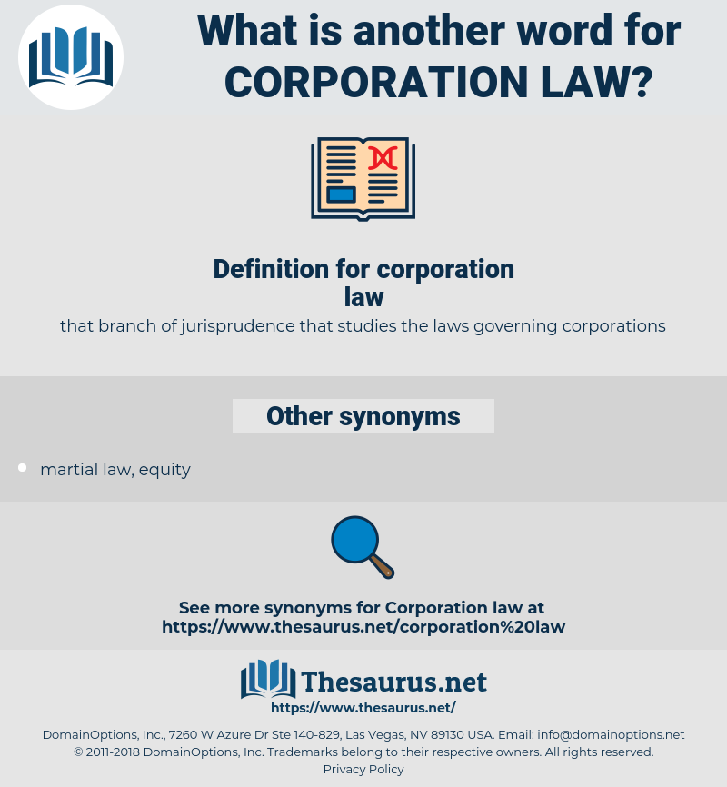corporation law, synonym corporation law, another word for corporation law, words like corporation law, thesaurus corporation law