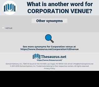 corporation venue, synonym corporation venue, another word for corporation venue, words like corporation venue, thesaurus corporation venue