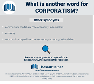 corporatism, synonym corporatism, another word for corporatism, words like corporatism, thesaurus corporatism