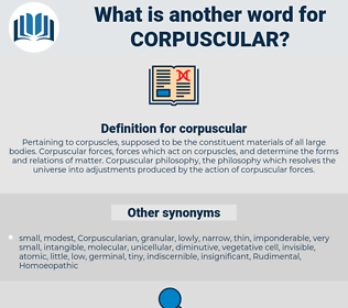 corpuscular, synonym corpuscular, another word for corpuscular, words like corpuscular, thesaurus corpuscular