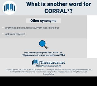 corral, synonym corra