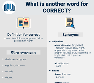 correct, synonym correct, another word for correct, words like correct, thesaurus correct