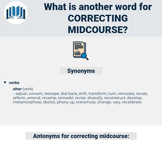 correcting midcourse, synonym correcting midcourse, another word for correcting midcourse, words like correcting midcourse, thesaurus correcting midcourse