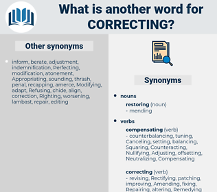 Correcting, synonym Correcting, another word for Correcting, words like Correcting, thesaurus Correcting