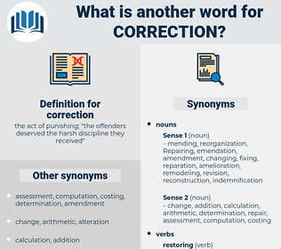 correction, synonym correction, another word for correction, words like correction, thesaurus correction