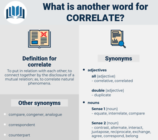 correlate, synonym correlate, another word for correlate, words like correlate, thesaurus correlate