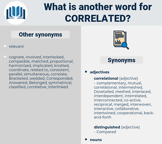 correlated, synonym correlated, another word for correlated, words like correlated, thesaurus correlated