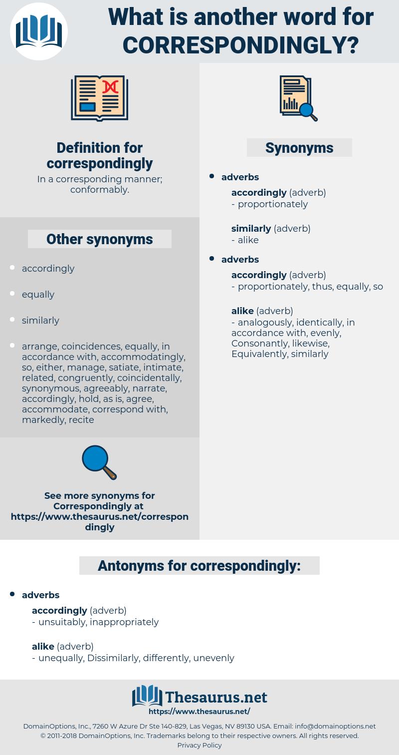 correspondingly, synonym correspondingly, another word for correspondingly, words like correspondingly, thesaurus correspondingly