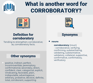 corroboratory, synonym corroboratory, another word for corroboratory, words like corroboratory, thesaurus corroboratory