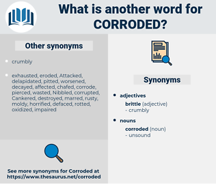 corroded, synonym corroded, another word for corroded, words like corroded, thesaurus corroded