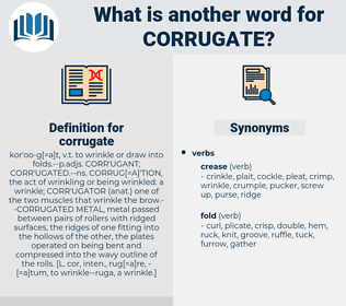 corrugate, synonym corrugate, another word for corrugate, words like corrugate, thesaurus corrugate