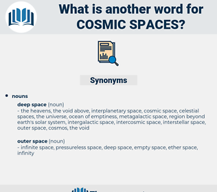 cosmic spaces, synonym cosmic spaces, another word for cosmic spaces, words like cosmic spaces, thesaurus cosmic spaces