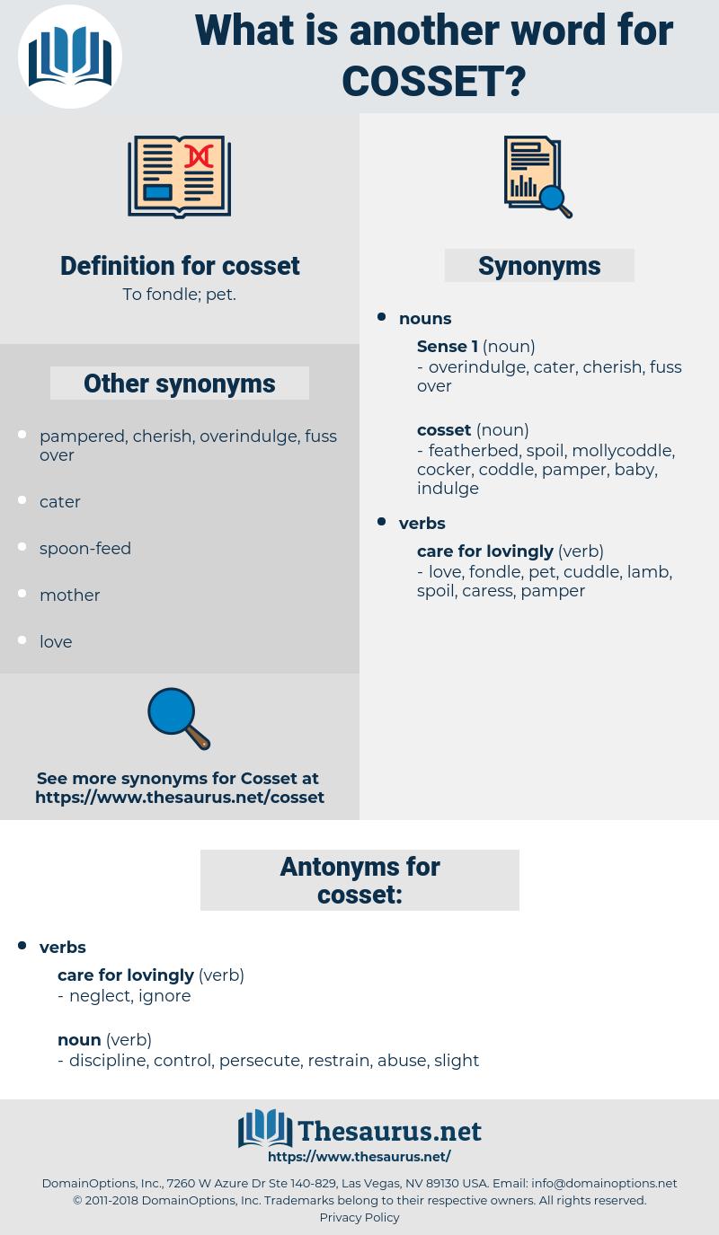 cosset, synonym cosset, another word for cosset, words like cosset, thesaurus cosset