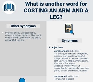 costing an arm and a leg, synonym costing an arm and a leg, another word for costing an arm and a leg, words like costing an arm and a leg, thesaurus costing an arm and a leg