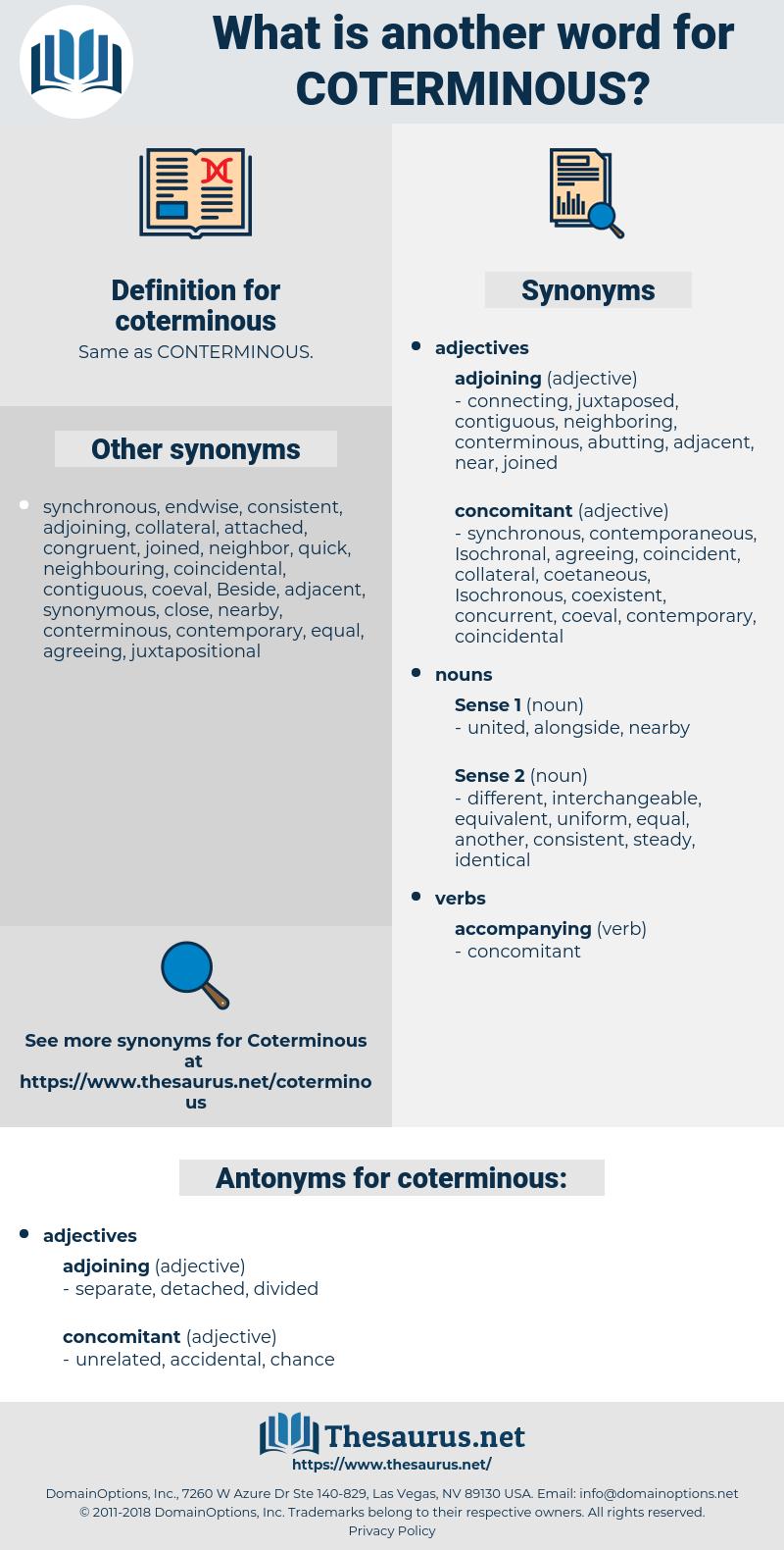 coterminous, synonym coterminous, another word for coterminous, words like coterminous, thesaurus coterminous