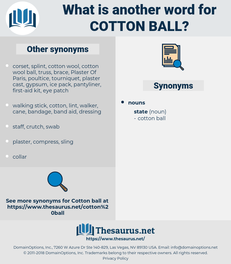 cotton ball, synonym cotton ball, another word for cotton ball, words like cotton ball, thesaurus cotton ball