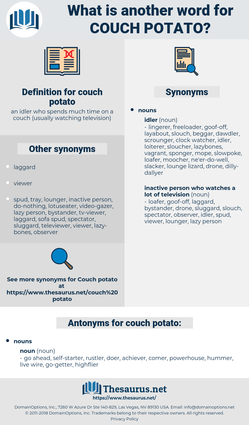 couch potato, synonym couch potato, another word for couch potato, words like couch potato, thesaurus couch potato