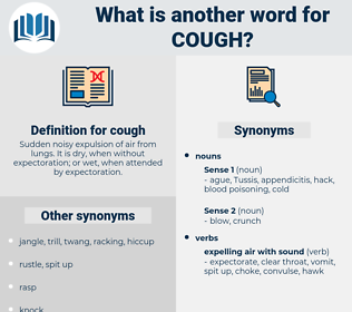 cough, synonym cough, another word for cough, words like cough, thesaurus cough