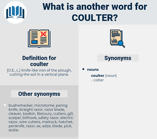 coulter, synonym coulter, another word for coulter, words like coulter, thesaurus coulter