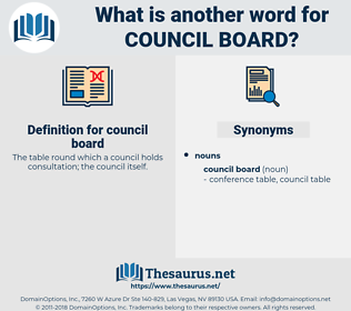 council board, synonym council board, another word for council board, words like council board, thesaurus council board