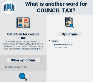 council tax, synonym council tax, another word for council tax, words like council tax, thesaurus council tax