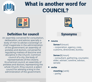 council, synonym council, another word for council, words like council, thesaurus council