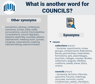 councils, synonym councils, another word for councils, words like councils, thesaurus councils