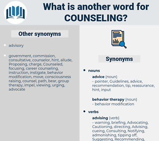 counseling, synonym counseling, another word for counseling, words like counseling, thesaurus counseling