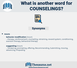 counselings, synonym counselings, another word for counselings, words like counselings, thesaurus counselings