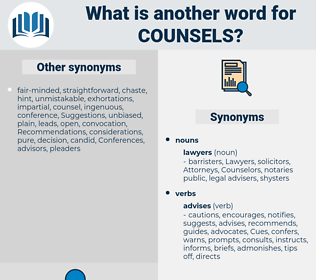 counsels, synonym counsels, another word for counsels, words like counsels, thesaurus counsels