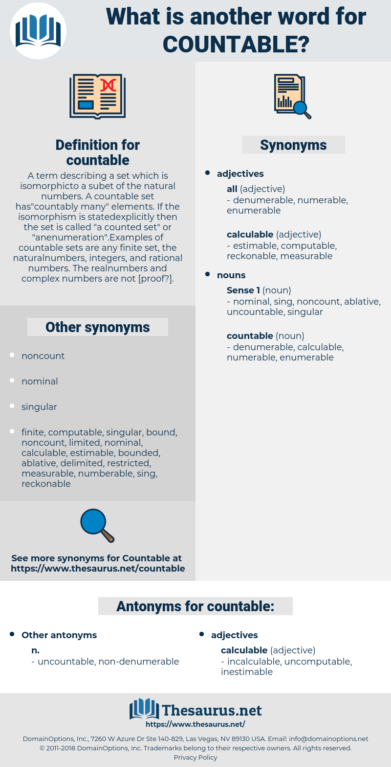 countable, synonym countable, another word for countable, words like countable, thesaurus countable